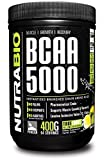 NutraBio BCAA 5000 Powder - 400 Grams - LEMON LIME - 100% Pure Branched Chain Amino Acids - HPLC Tested.