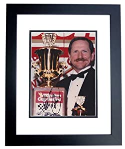 Dale Earnhardt Sr. Autographed Hand Signed Racing 8x10 Trophy Photo - BLACK CUSTOM... by Real Deal Memorabilia