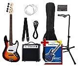 Rocktile Groover's Pack JB E-Bass Set II Sunburst Groover's Pack