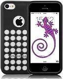 JAMMYLIZARD   Coque souple à trous pour iPhone 5C, Noir