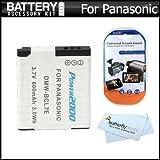Battery Kit For Panasonic Lumix DMC-XS1 DMC-SZ3 DMC-FH10 DMC-F5 Compact Digital Camera Includes Extended Replacement...