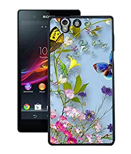 Crazymonk Premium Digital Printed Back Cover For Sony Xperia Z