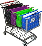 The Original CartBagz | Shopping Cart Trolley Bags | Sized for USA & CANADA | With insulated front blue bag! | Even works with CostCo and Sam's Club carts!