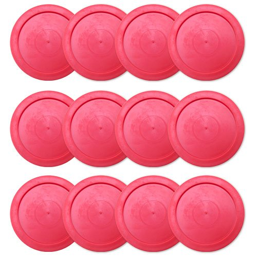 Fantastic Deal! Brybelly One Dozen Air Hockey Pucks, 2.5-Inch