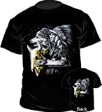 Printed T-Shirt - Wolf & Red Indian