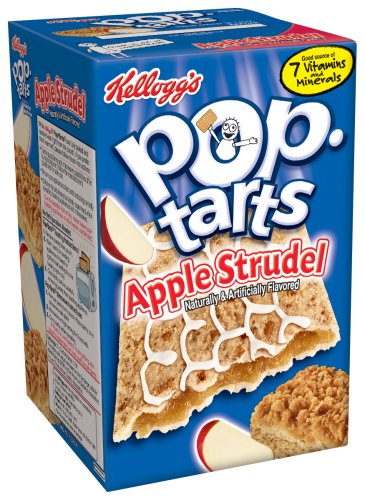 Buy Kellogg's Pop-Tarts Apple Strudel, 8-Count Boxes (Pack of 12) (Pop-Tarts, Health & Personal Care, Products, Food & Snacks, Breakfast Foods, Toaster Pastries)