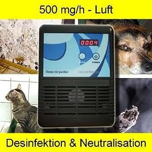 Ozonisator Ozongenerator Luftreiniger Aufbereitung Desinfektion KFZ Wohnung Keller Schimmel 500 mg/h OZ2