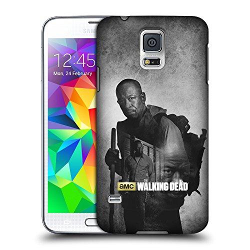 Ufficiale AMC The Walking Dead Morgan Doppia Esposizione Cover Retro Rigida per Samsung Galaxy S5 / S5 Neo