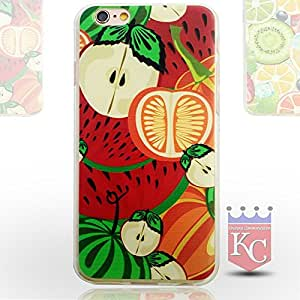 iPhone 6s Cases - Ultra Thin 3D Printed Fruits Transparent Soft TPU iPhone 6s back cover for girls - Transparent