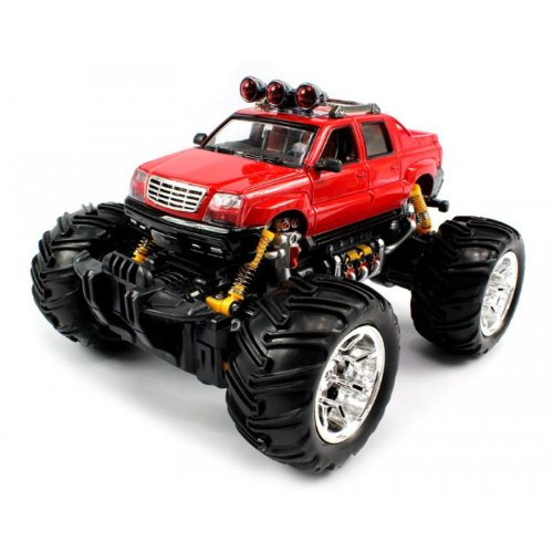 Big Size QUALITY Electric Full Function 1:16 Cadillac Escalade EXT Monster RTR RC Truck Monster RTR RC Truck (Colors MAy Vary) QUALITY Remote Control RC Trucks w/ Working Suspension