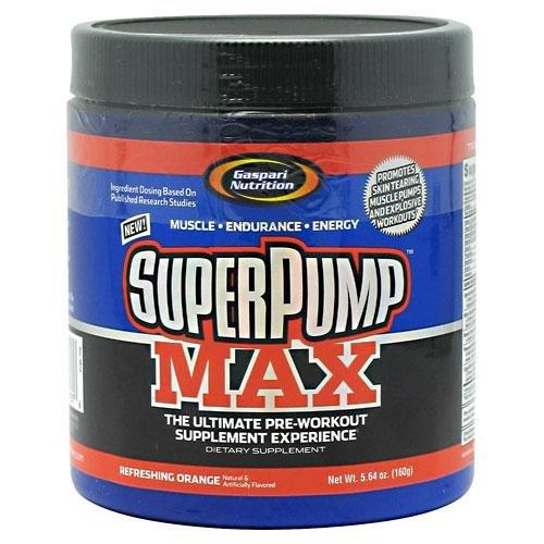 Gaspari Nutrition Superpump Max, Refreshing Orange, 5.64 Ounces