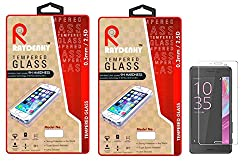Raydenhy Pack of 2 (2 PCS) 2.5D Curved Edges 0.33MM Thickness Tempered Glass For Sony Xperia XA