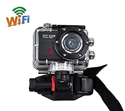 Full HD 1080P waterproof Action Sport Camera CAM WiFi DV Camcorder WDV5000 Black