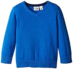 The Children\'s Place Little Boys\' LB Solid V-Neck Sweater, Happy Blue, 2T