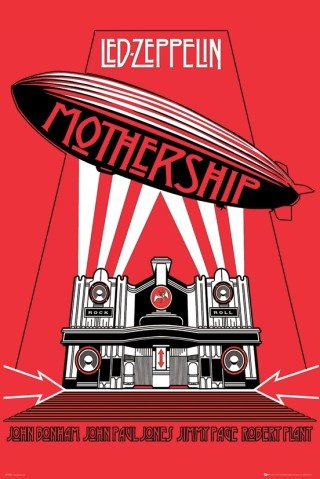 Posters: Led Zeppelin Poster - Mothership (36 X 24 Inches)
