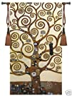 The Tree of Life By Klimt 31Wx55L Fine Art Wall Hanging