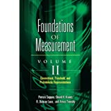 "Geometrical, Threshold, and Probabilistic Representations: 2 (Foundations of Measurement)von ""Patrick Suppes"""
