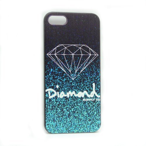 Generic Fashion Diamond Quotes Black Sides Slim Hard Plastic Case for Apple Iphone 5 5s