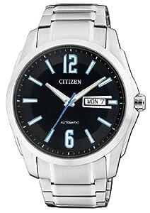 Citizen Herren-Armbanduhr XL Analog Automatik Edelstahl NH7490-55EE
