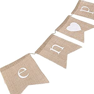 OULII Hen Party Bunting Banner Rustic Wedding Party Decoration Bunting Flag Banner from OULII