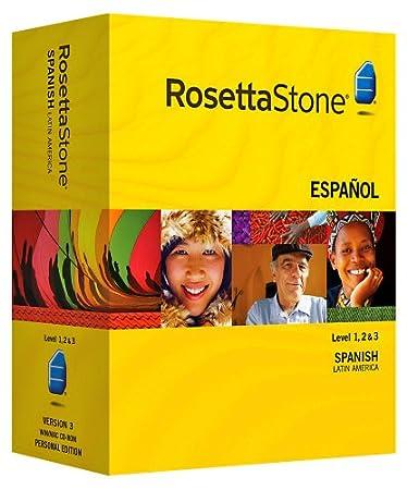 Rosetta Stone Spanish (Latin America) Level 1, 2 & 3 Set with Audio Companion