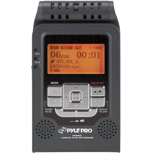 Pyle-Pro Ppr80 Digital Portable Stereo Voice Recorder With Built-In 2 Gb Flash Memory