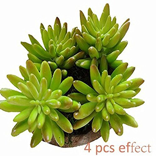 Neomark Home Garden Artificial Succulent Flower Plants Unpotted For Home Decor Wedding Bouquet DIY 4 Pcs