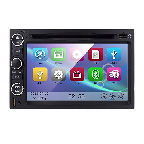 7 inch In Dash Double Din Car DVD Player HD Touchscreen GPS Navigation AM FM Radio Receiver for Ford F150/F350/Mustang/Edge/Explorer Support 3G/iPod/SW Control/Digital TV (F150 Radio Console compare prices)