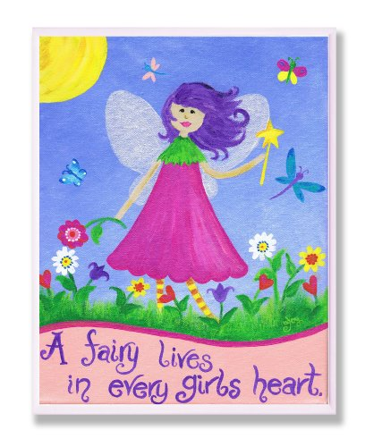 The Kids Room by Stupell A Fairy Lives in Every Girl's Heart Rectangle Wall Plaque