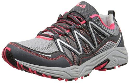 Fila Women's Headway 6 Running Shoe, Metallic Silver/Castlerock/Diva Pink, 8 M US
