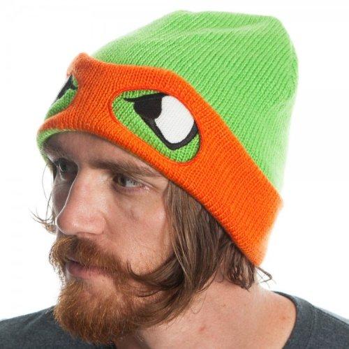 7279f3f8dc6 Teenage Mutant Ninja Turtles Orange Reversible Rolled Beanie ...