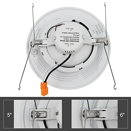 Led Recessed Lighting Kit 5000k : Torchstar w inch gimbal led recessed light retrofit