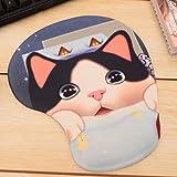 可愛い ネコちゃん デザイン リストレスト付き マウスパッド