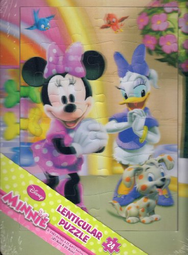 Disney Minnie 3d 24 Piece Lenticular Tray Puzzle - 1