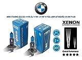 Pair of H1 12V 55w Super White Xenon HID BMW 5 Touring (E34) 525 i 91-97 FOG LAMPS (STD) P14,5s