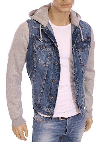 Kaporal-giacca di jeans, colore: blu, con cappuccio, da uomo, regular fit, reni invernale 2016 blu 2XL
