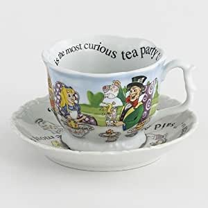 Cardew Design Alice In Wonderland 150th Anniversary Edition Breakfast Cup and Saucer, 13oz