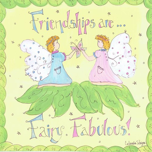 The Kids Room by Stupell Friendships are Fairy Fabulous Square Wall Plaque