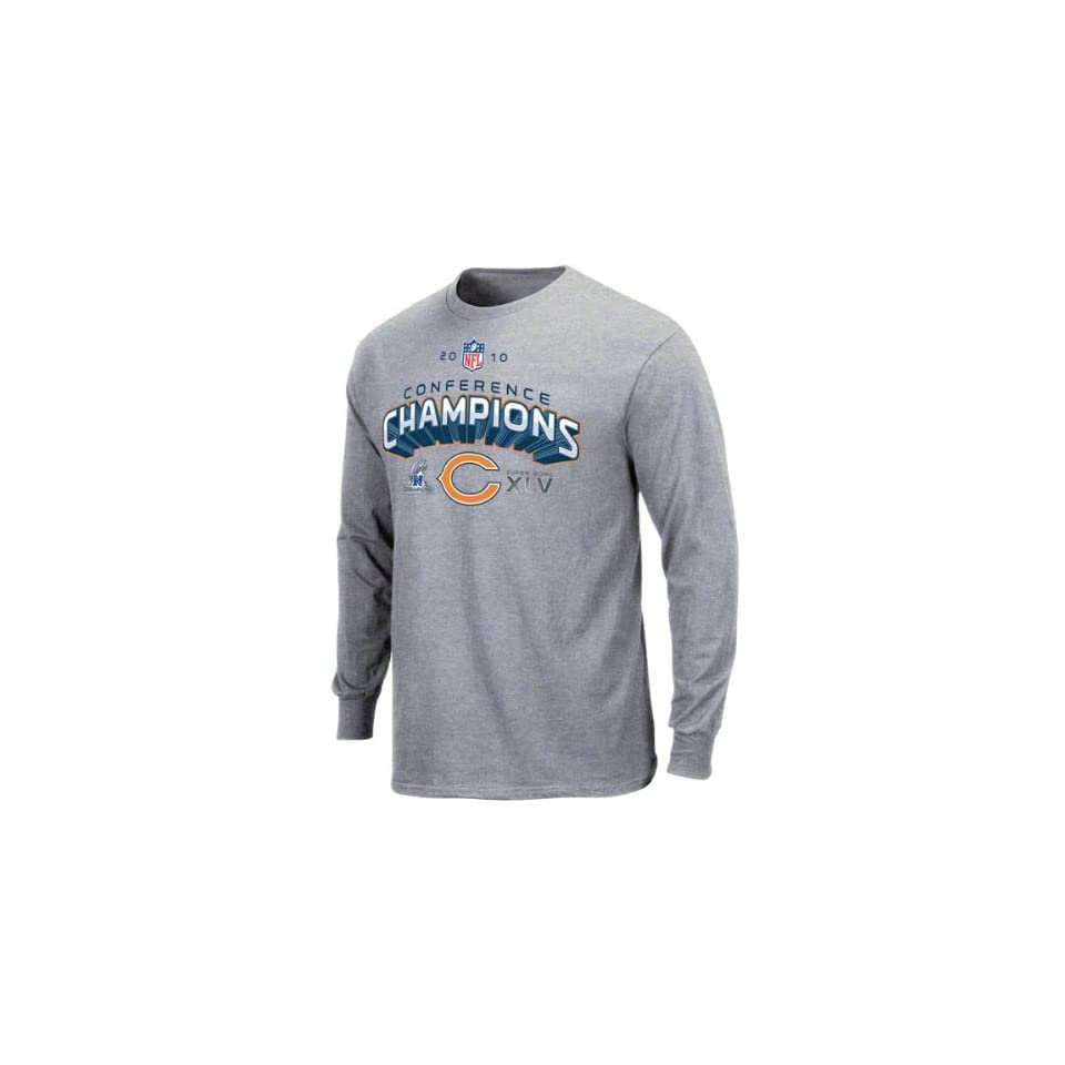ff6a09d3a Chicago Bears 2010 NFC Conference Champions Super Bowl XLV Locker Room Long  Sleeve T Shirt