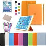 Besdata® Apple iPad Smart Housse de protection en polyuréthane pour iPad (IPAD Air, Orange) PT4107