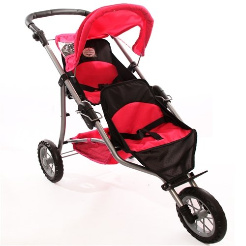 The New York Doll Collection Doll Twin Jogging Stroller front-10531