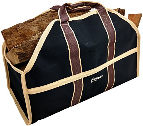 Grillinator Ultimate Firewood Log Carrier: Back Saving Design with Ultra Premium Canvas (Black) (Wood Tote compare prices)