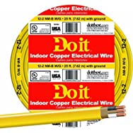 Southwire28828217Do it Nonmetallic Sheathed Cable-25' 12-2 NMW/G WIRE