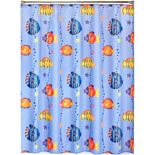 Saturday Knight LTD Fish Playground Shower Polyester Curtain, 70 X 72 Inch