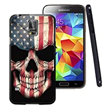 buy Galaxy S5 Case Black Customized Black Soft Rubber Tpu Samsung Galaxy S5 Black Case Flags & Skull Head