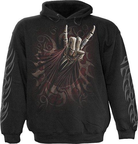 Rock Salute, gothic fantasy metal zwarte maglione