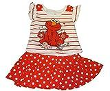 Sesame Street Elmo Short Sleeve Tee Shirt Skirt Scooter Set Baby Girls' (24 Months)
