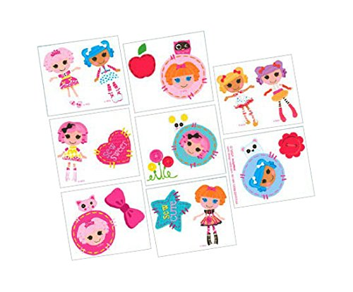 "Amscan Adorable Lalaloopsy Temporary Tattoo (16 Piece), Multi, 2"" - 1"