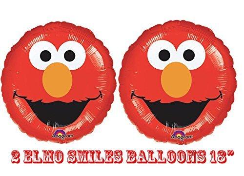 """Elmo Smiles Foil Balloons 18"""" (2 Balloons)"""