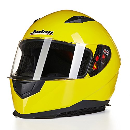 ILM-Full-Face-Motorcycle-Street-Bike-Helmet-with-Removable-Winter-Neck-Scarf-2-Visors-DOT-M-Yellow